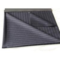 59CM Grey Mens Suit Fabric50% Wool With White Strip 450 Gram Per Meter