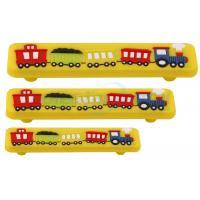 Custom Metal Hardware 128mm CC Yellow Kids Corner Acrylic Train Bar Cabinet Pull Handle