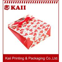 Buy cheap Red Heart-shaped Gift Paper Bag / Paper Shopping Bags / Brown Kraft Paper Bag With Customized Size from wholesalers