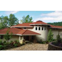Buy cheap Corrugated Double Roman red / brown Low Pitch Roof Tiles , Wave roofing shingle from wholesalers