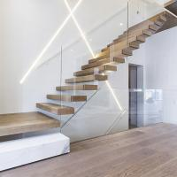 Buy cheap home used diy wooden floating staircase fancy timber stairs product