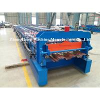 Buy cheap 1.2mm Thickness steel Decking floor roll forming machine with high stengthen power from wholesalers