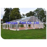 Buy cheap Giant Wedding Glass Tent Movable  Aluminium Frame Clear Canopy Tent 20 X 30 M from wholesalers