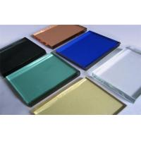 Buy cheap 10mm Decorative Glass Panels , Silk Screen Print Colored Glass Sheets from wholesalers