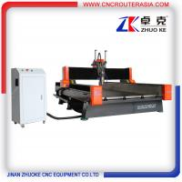 Buy cheap 4*8 feet Heavy duty Metal Wood Stone CNC Router with air cylinder ZK-1325 1300*2500mm from wholesalers