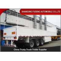 Buy cheap Tri Axle Side Wall Semi Trailer With Dropping Side Walls 1.5mm Steel Plate from wholesalers