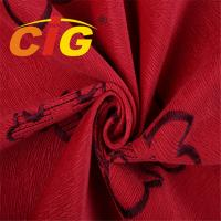 Buy cheap Red Burnout Velvet Fabric Thickness 1.0mm Weight 380gsm Width 145cm from wholesalers
