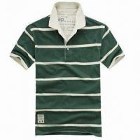 Buy cheap Hot Selling Men's Engineer Stripe Polo Shirt, Made of 100% Cotton from wholesalers
