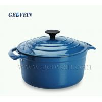 Buy cheap Enamel Cast Iron Fry Deep Pan Saucepan With Lid For Sale from wholesalers