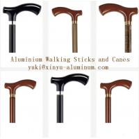 Buy cheap Wooden Grain Transfer Printing Aluminium Round Tube for Walking Sticks / Canes from wholesalers