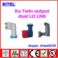 Buy cheap Ku-band 2-port output TWIN LNBF, single LO and dual LO available from wholesalers