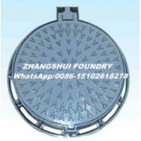 China Ductile iron manhole cover cast iton square and round EN124 manhole cover and frame on sale
