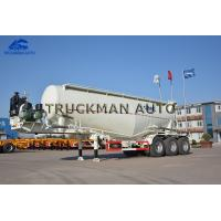 Buy cheap 35 Cbm Cement Tanker Trailer 3 Axles Tank Body Thickness 3mm With Wechai Motor from wholesalers
