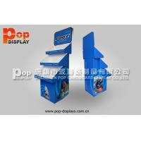 Buy cheap Advertising Three Tiered Cardboard Floor Display Stands , Pets Bowls Corrugated Display from wholesalers