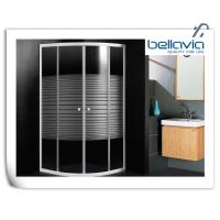 Buy cheap Framed Sliding Door Quadrant Shower Enclosure 700 X 700 With 4mm Curved Glass from wholesalers
