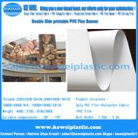 Buy cheap Double side Printable PVC Blockout flex banner for solvent printing from wholesalers