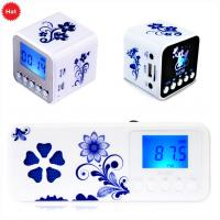 Buy cheap Multifunction Retro mini FM clock radio with micro sd card from wholesalers