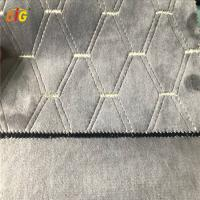 Buy cheap Emboridery Soft Velvet Fabric With Brush Backing 145cm Width from wholesalers