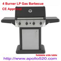 Buy cheap Gas Barbecue Grill with foldable side table from wholesalers