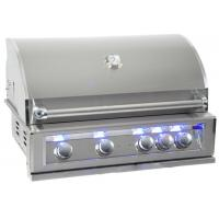 China Luxury outdoor bbq kitchen built in gas bbq grill bbq island with back burner, LED light , cast SUS 304 Burner for US on sale