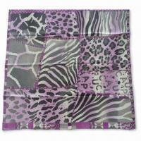 Buy cheap 100% Silk Square Scarf with Printing, Measures 88 x 88cm from wholesalers