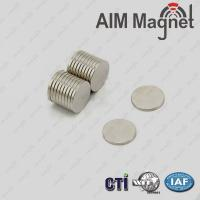 Buy cheap Round strong neodymium magnets 20mm X 2mm N35 from wholesalers