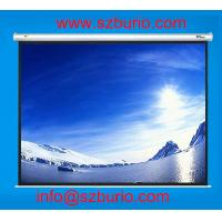 Buy cheap Roll up projection screen with remote control, 300 (16:9) motorized projection screen from wholesalers