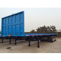 Buy cheap 40ft Shipping Container FlatBed Semi Trailer With Front Safety Bumper 35 T Capacity from wholesalers