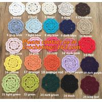 Buy cheap Retro pattern Crochet Doily Crochet cup mat Applique Home Decoration, Crochet Doily from wholesalers