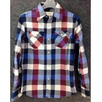 Buy cheap men Cheap plaid blouse stocklots full sleeve tops stock,man clothes inventory wholesaler from wholesalers