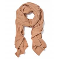 Buy cheap 100 Cashmere Knit Winter Scarf , Elastic Lattice Stitch Rib Knit Scarf from wholesalers