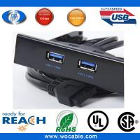 "Buy cheap Internal 3.5"" front USB 2.0 4-port panel hub Floppy Bay Bracket Cable from wholesalers"