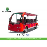 Buy cheap Red Color Tourist Electric Sightseeing Car With 14 Seats Battery Operated product