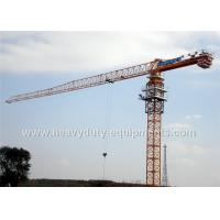 Buy cheap Tower crane with free height 77m for max load of 25 tons equipped a hydraulic self raising mechanism from wholesalers