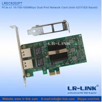 Buy cheap LREC9202PT PCIe x1 2 PORT Lan Card Dual port Network Card from wholesalers