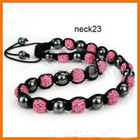 Buy cheap Customized Rose Shamballa Bead Necklace Beaded Handmade Jewellery from wholesalers