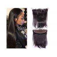 Buy cheap 13'' X 4'' Ear To Ear Lace Frontal Closure Virgin Hair / Silky Straight Human Hair from wholesalers