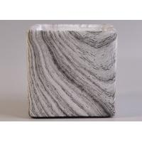 Buy cheap Craft Water Transfer Marble Square Concrete Candle Jars Planting Containers from wholesalers