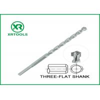 Buy cheap Three Flats Shank Metric Masonry Drill Bits Zinc Plated With Auto Welded Tip from wholesalers