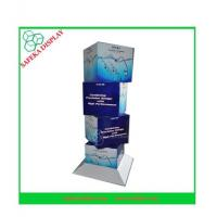 Buy cheap 350g CCNB + K5 Corrugated cardboard Material cube cardboard display stands from wholesalers