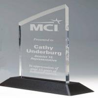 Buy cheap 10mm / 20mm Acrylic Award Trophy ,Trophies Medals With Base For Student product