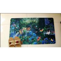 Buy cheap Customized Polyester Rubber Floor Carpet , Sublimation Printing Rubber Door Mat from wholesalers