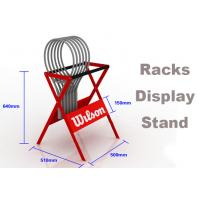 Buy cheap Eco Friendly Sports Display Rack Tennis Racket Display Rack Red / Blue / Gray Color from wholesalers