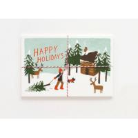 Buy cheap Offset Printing Cardstock Christmas Cards Stock With Gloss Lamination Surface from wholesalers