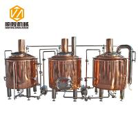 Red Copper Beer Brewing Equipment , 500L Brewpub Beer Making Equipment