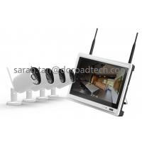 Buy cheap NVR with LCD Screen 4CH 720P Bullet WIFI IP Cameras Support P2P Wireless Surveillance System from wholesalers