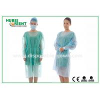 Buy cheap 18-40G / m2 Medical Nonwoven Disposable Isolation Gowns with Knitted Cuff from wholesalers