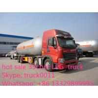 Buy cheap Dongfeng tianlong 8*4 lpg transport bobtail truck 35000Liters for sale, lpg gas truck bobtail for sale from wholesalers