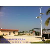 China solar and wind 12 / 24V ac hybrid off grid street lighting fixtures for urban roads on sale