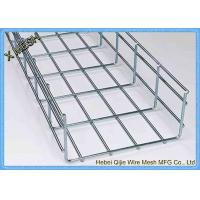Buy cheap Galvanized / Powder Coated Wire Mesh Cable Tray , Metal Mesh Tray SGS Listed from wholesalers